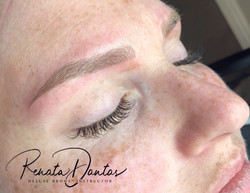 Microblading and lashes combo