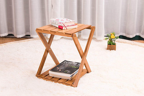 ピクニック 収納棚 竹製 2段ラック