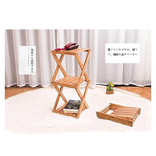 ピクニック 収納棚 竹製 2段ラック 長い