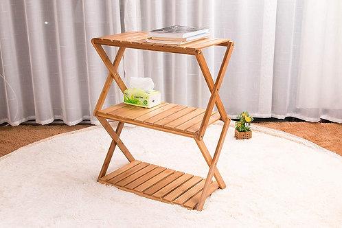 ピクニック 収納棚 竹製 3段ラック 長い