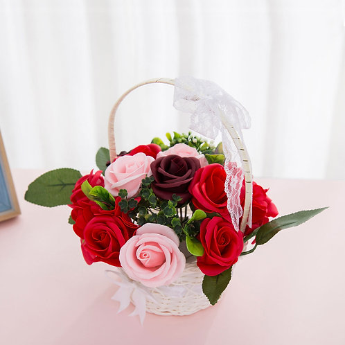 ソープフラワー ボックス アレンジメント ソープフラワーギフト 花 花かご 誕生日 プレゼント 母 女性 女友達 彼女 結婚祝い お祝い ギフト 退職 新築祝い