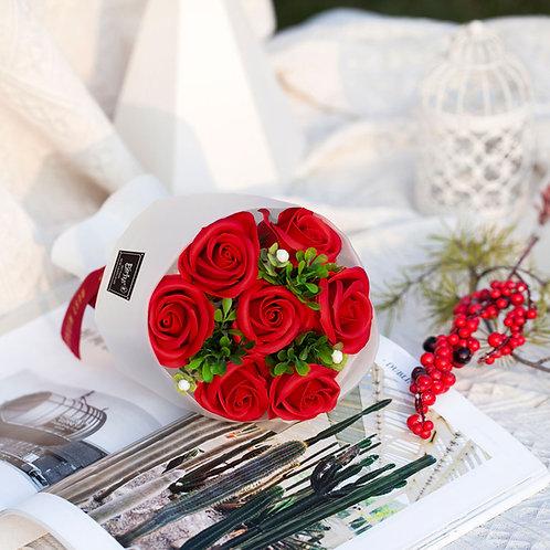 ソープフラワー ボックス アレンジメント ソープフラワーギフト 花 7花束 誕生日 プレゼント 母 女性 女友達 彼女 結婚祝い お祝い ギフト 退職 新築祝い