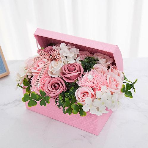 ソープフラワー ボックス アレンジメント ソープフラワーギフト 花 お花の宝箱 誕生日 プレゼント 母 女性 女友達 彼女 結婚祝い お祝い ギフト 退職 新築