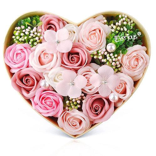 ソープフラワー ボックス ソープフラワーギフト 花 バラ ハートBOX・Lサイズ 誕生日 プレゼント 母 女性 女友達 彼女 結婚祝い お祝い ギフト 退職 新