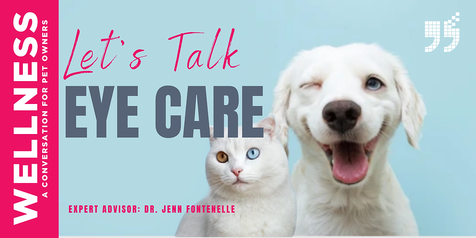 Let's Talk Pet Eye Care