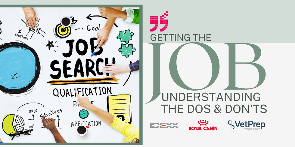 The Dos and Don'ts to Getting Your Dream Veterinary Job