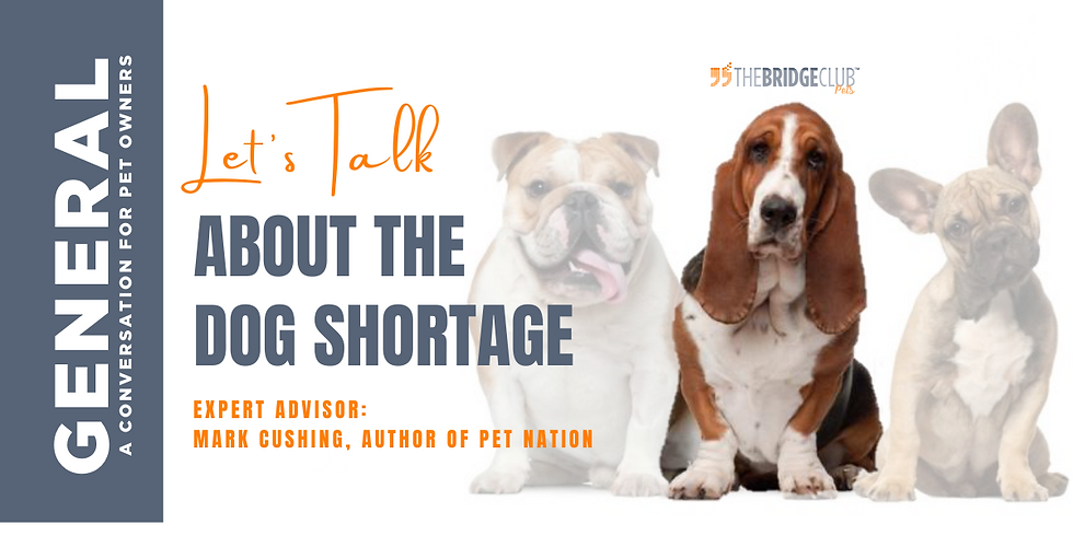 Let's Talk About The Dog Shortage!