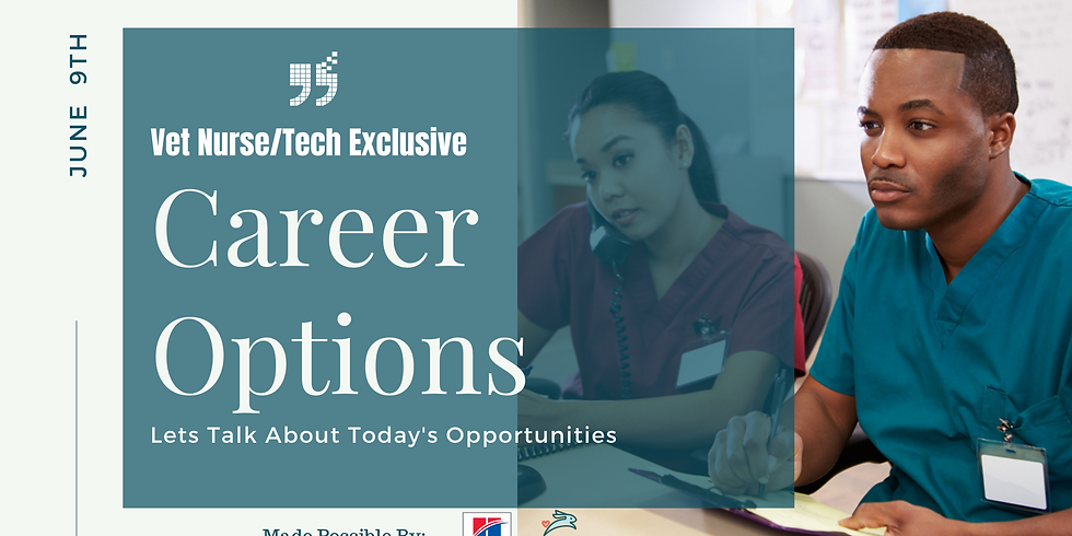 Let's Talk About the New Career Options for Vet Nurses/Techs