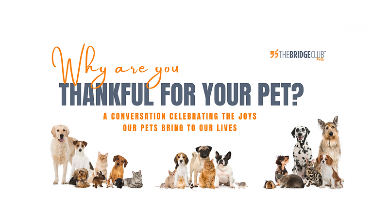 Share Why You Thankful for Your Pet