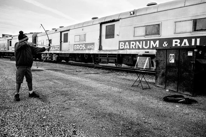 Ringling Bros. and Barnum & Bailey Circus Train. Melrose Park, Illinois. 2014.