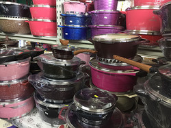 Non-stick, easy-to-clean, scratch-proof and colourful granite pots