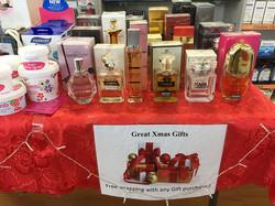 Christmas wrapped perfumes