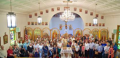 Summer 2019 Parish picture from St. Demetrius Ukrainian Catholic Church in Fairfield, North Dakota