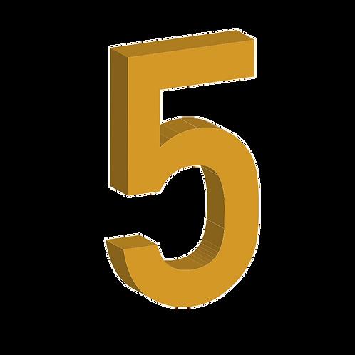 Número (varios tamaños)