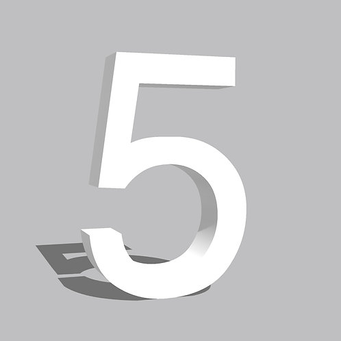 Números 15cm Helvetica