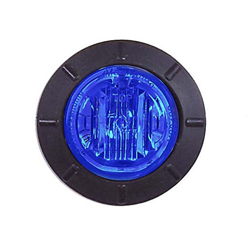 """Maxxima M09400BCL Blue 1-1/4"""" Round LED Clear Lens Courtesy Marker Light"""