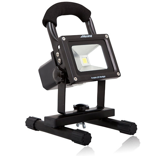 Maxxima MPWL-10 10 Watt Portable Rechargeable Lithium LED Work Light 800 Lumens