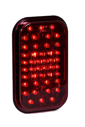 "Maxxima M42201R Red 5"" Rectangular Stop/Tail/Turn Light"