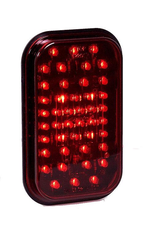 "Maxxima M42201R Red 5"" Rectangular Stop/Tail/Turn Light"