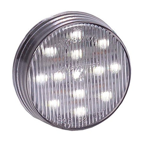 "Maxxima (M11300WCL) White 2-1/2"" Round LED Interior Courtesy Light"