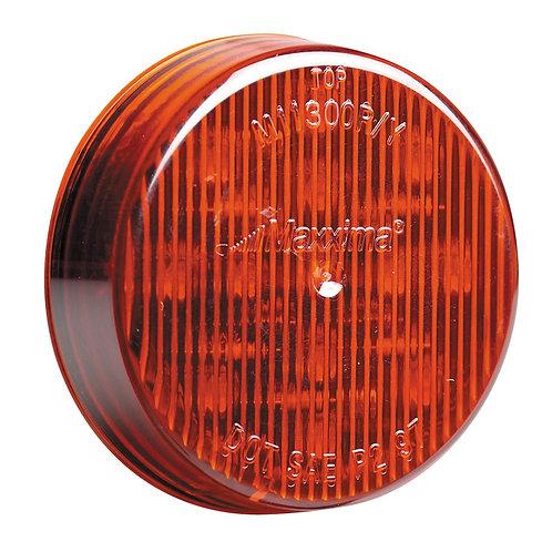 "Maxxima M11300R Red 2-1/2"" Round Marker Light"