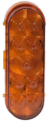 "Maxxima M63339Y Amber 6"" Oval ParkRear Light"