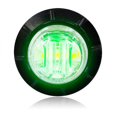 "Maxxima M09300G Green 3/4"" Round LED Courtesy Marker Light"
