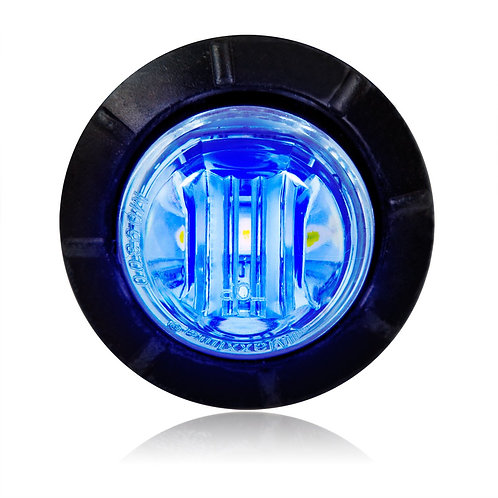 "Maxxima M09300BCL Blue 3/4"" Round LED Clear Lens Courtesy Marker Light"