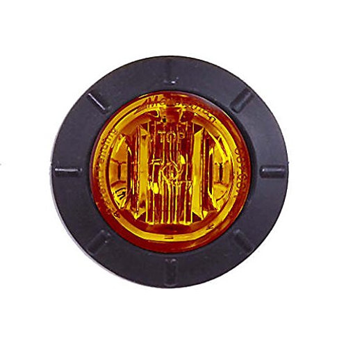 "Maxxima M09400Y Amber 1-1/4"" Round LED Clearance Marker Light"