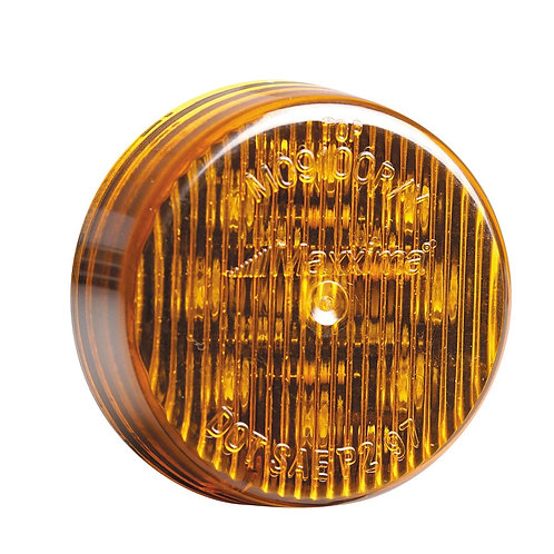 "Maxxima M09100Y Amber 2"" Round Marker Light"