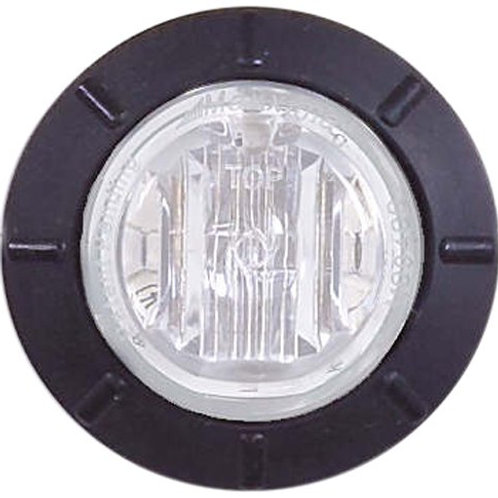 "Maxxima M09400WCL White 1-1/4"" Round LED Clear Lens Courtesy Marker Light"