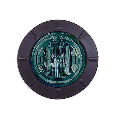 "Maxxima M09400G Green 1-1/4"" Round LED Courtesy Marker Light"