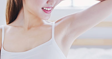 beauty woman smile with clean underarm a