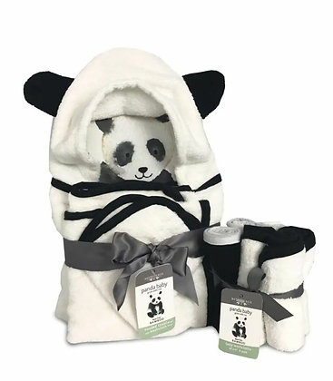 Panda Baby Bath Essentials Gift - Rayon from Bamboo Viscose
