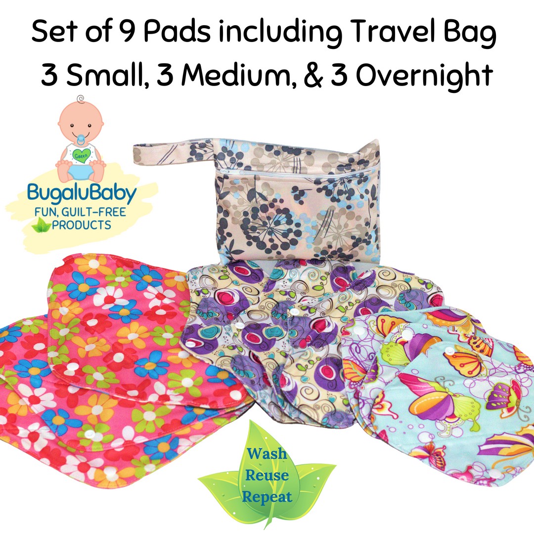 Set of 9 Pads with Travel Bag