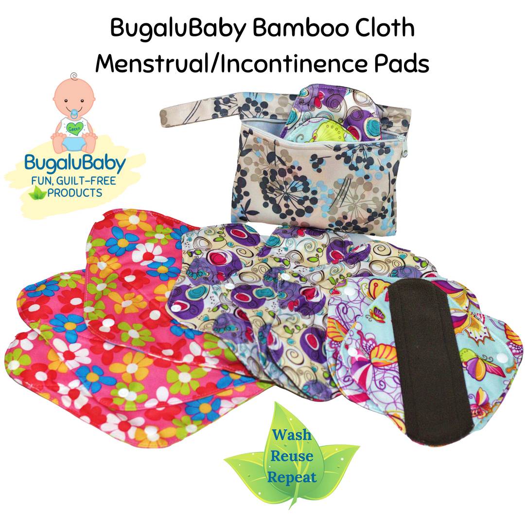 BugaluBaby Bamboo Cloth Menstrual/Incontinence Pads