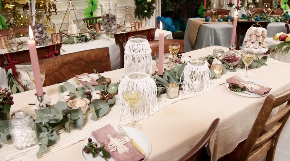 The final Christmas Table setting- Bohemian Christmas for Kirstie's Handmade Christmas