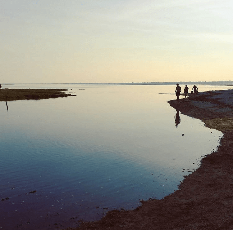 Photo of the sea at sunset- New Forest