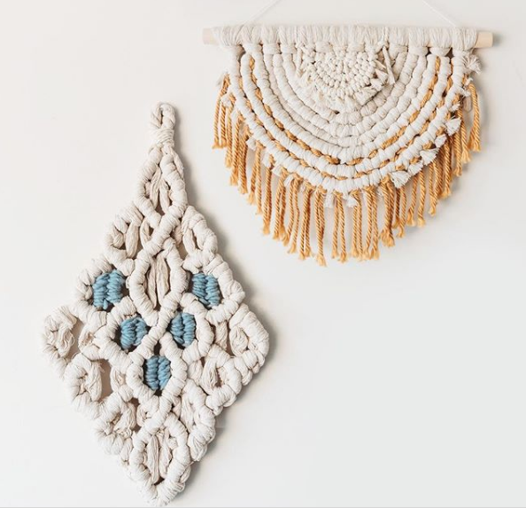Lindsey macrame and weaving work