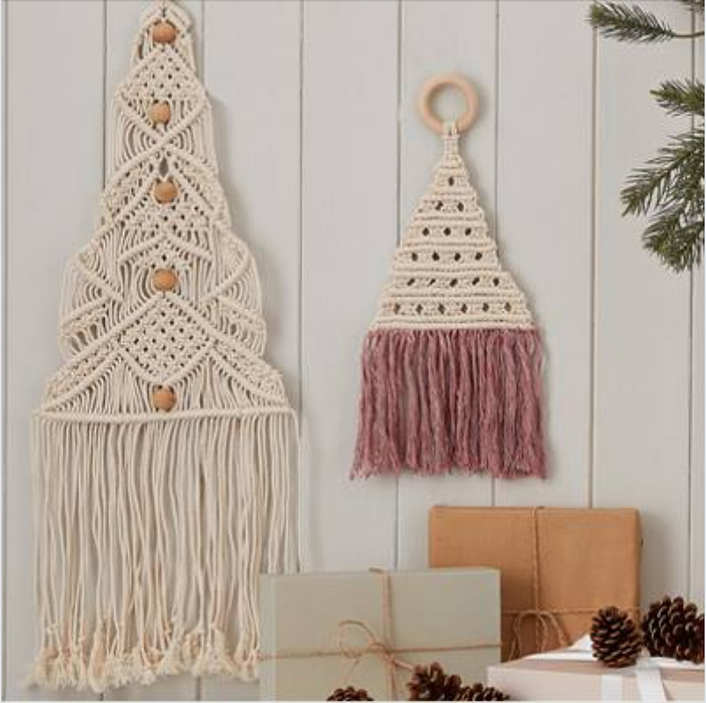 Macrame Christmas Trees by Isabella Strambio for Hobby Craft
