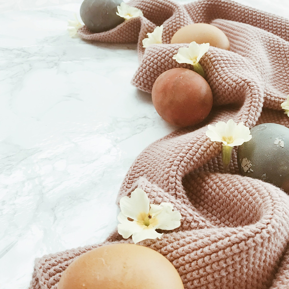 Naturally dyed Easter eggs to celebrate failure