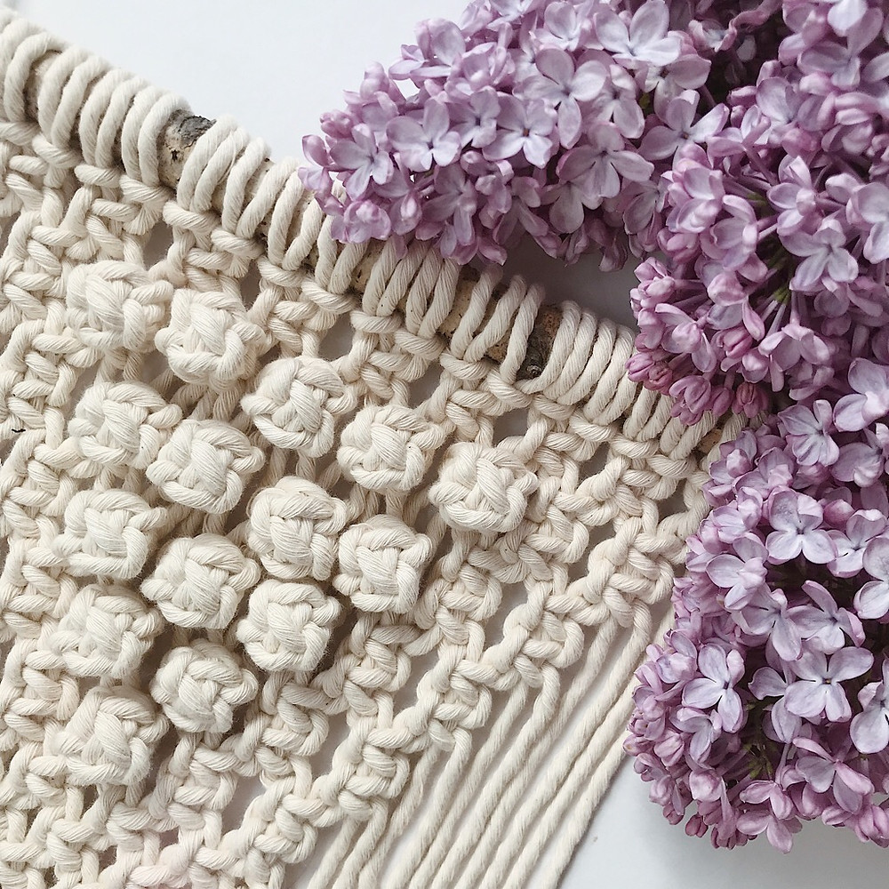 macrame detail with flowers