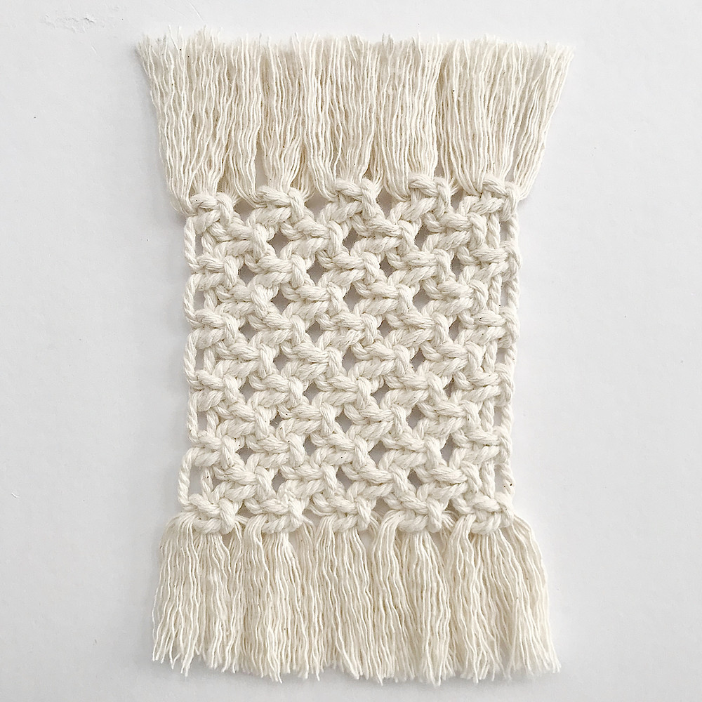 macrame coaster fringes