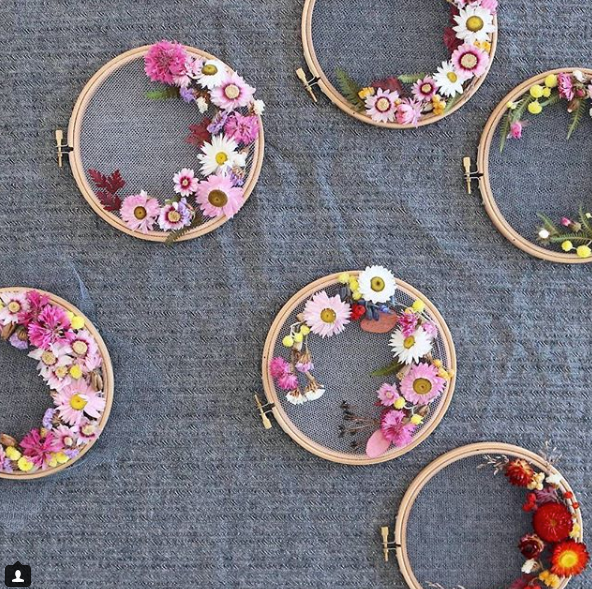 Selection of small flower wreath by Olga Prinku