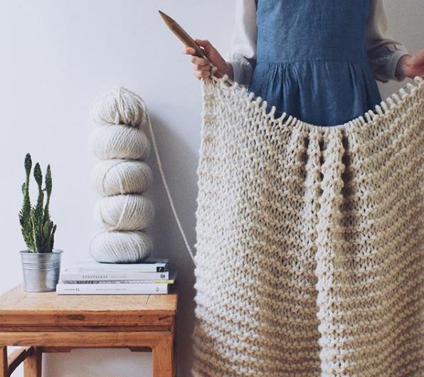 Veronika from Kutovakika with her knitwear