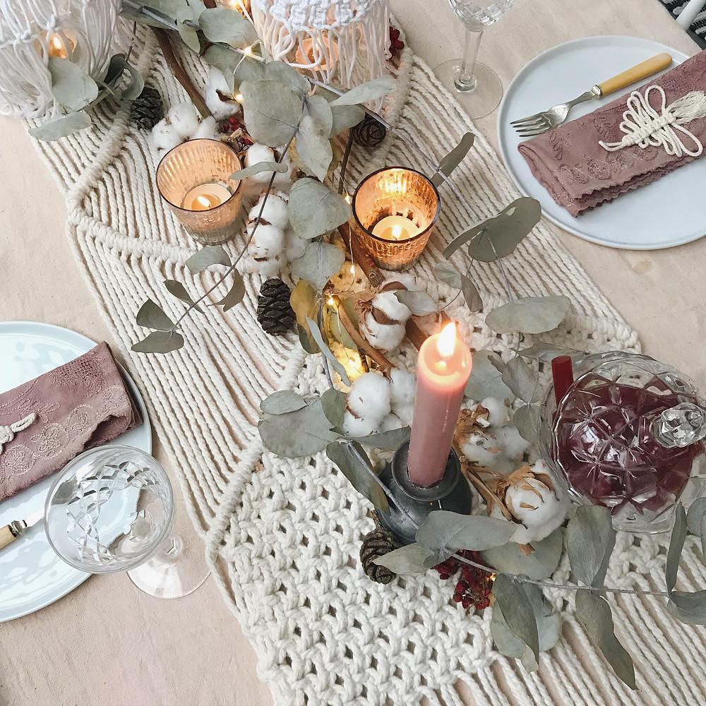 Kirstie's Handmade Christmas Bohemian Christmas Table Setting