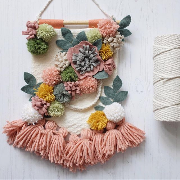 Lucy wall hanging for Mollie Makes magazine