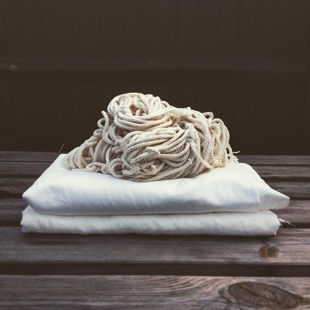 fabrics bathed in soya milk
