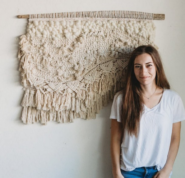 Lindsey weaving work at hellohydrangea