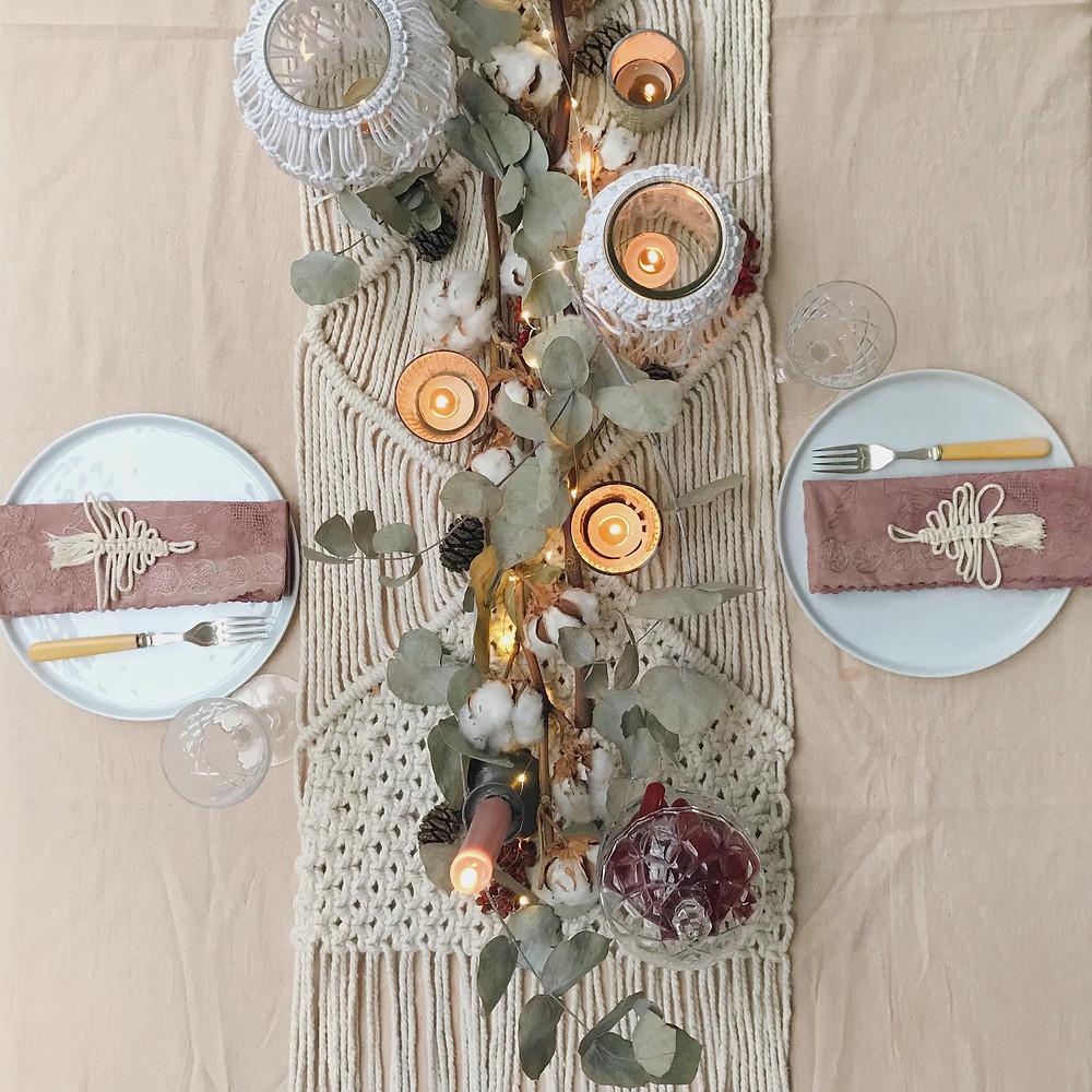 Kirstie's Handmade Christmas Bohemian Christmas Table Setting top2